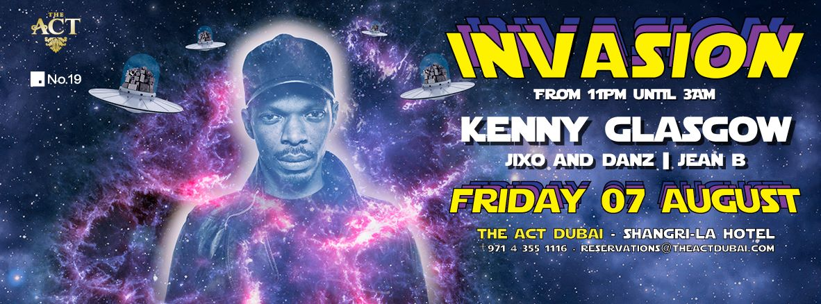 n Friday 7th of August, INVASION conquers The ACT - DUBAI to deploy the electronic vibes of international Djs. Investigate our dance floor by 11pm!