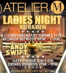 LADIES NIGHT WITH A VIEW @ ATELIER M