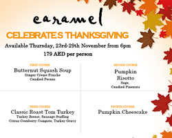 The Perfect Thanksgiving Meal at Caramel Restaurant & Lounge – Abu Dhabi