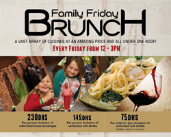 Family Frinday Brunch Promotions at PYRAMIDS @ WAFI
