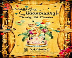 Polynesian Paradise Mahiki celebrates its second anniversary with special guest Miss Kelly Brook