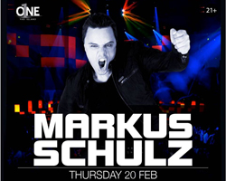 Markus Shculz this Thursday at O1NE Yas Island