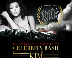 KIM KARDASHIAN TO HOST VIP ROOM CELEBRITY BASH AT THE ABU DHABI RACES
