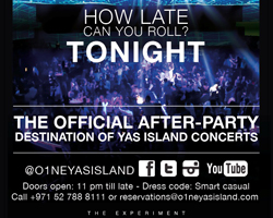 O1NE Yas Island is the After-Party Destination of Yas Island Concerts
