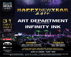 NYE 2014 WITH ART DEPARTMENT & INFINITY INK @ BLUE MARLIN IBIZA UAE