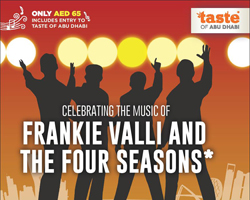 THE FOUR SEASONS TRIBUTE BAND IN CELEBRATION TO HEADLINE TASTE OF ABU DHABI'S PREMIERE NIGHT