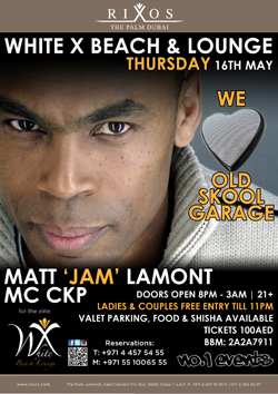 Matt 'Jam' Lamont at White X Beach & Lounge