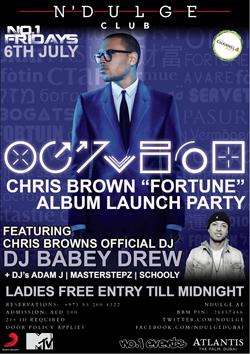 Chris Brown 'Fortune' Album Launch Party – Palm Jumeirah